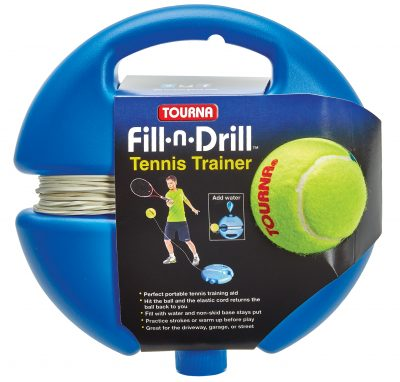 fill n drill portable tennis trainer