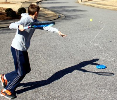 fill n drill portable tennis trainer